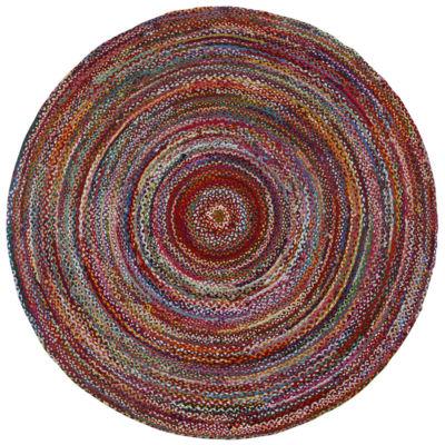 St. Croix Trading Brilliant Ribbon Multi Colored Round Rugs