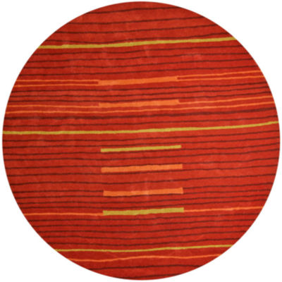 St. Croix Trading Structure Lineage Round Rugs