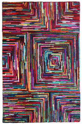 ST. CROIX TRADING Brilliant Ribbon Blocks Rug