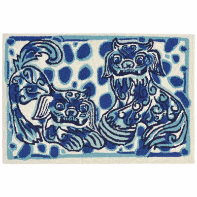 Liora Manne Frontporch Fu Dogs Indoor/Outdoor Rug