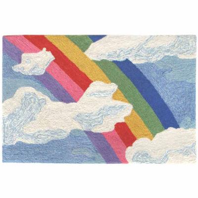Liora Manne Frontporch Rainbow & Clouds Indoor/Outdoor Rug