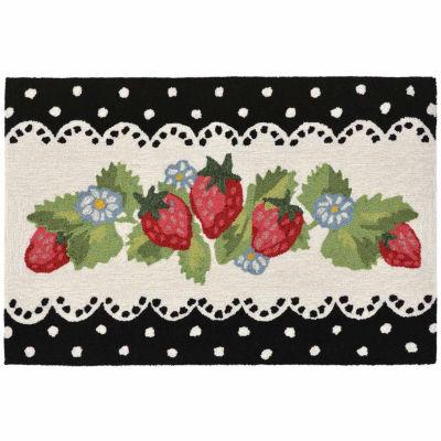 Liora Manne Frontporch Strawberries Indoor/OutdoorRug