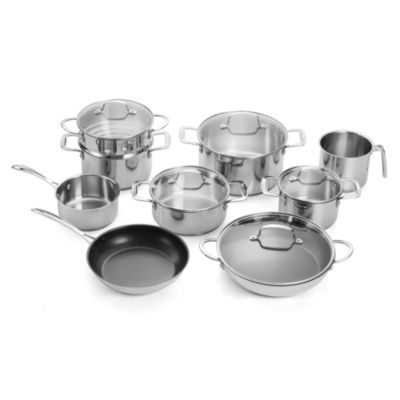 For The Chef Forthechef 14-pc. Stainless Steel Dishwasher Safe Cookware Set