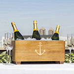 Cathy's Concepts Personalized Anchor Wooden Wine Trough