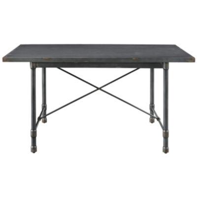 Industrial Metal Top Dining Table