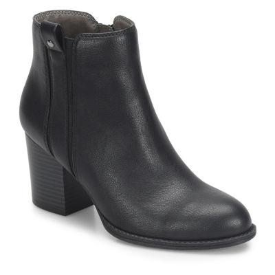 Eurosoft Womens Sabira Booties Block Heel Zip
