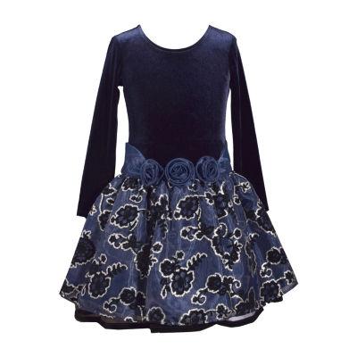Bonnie Jean Long Sleeve Drop Waist Dress - Big Kid Girls Plus
