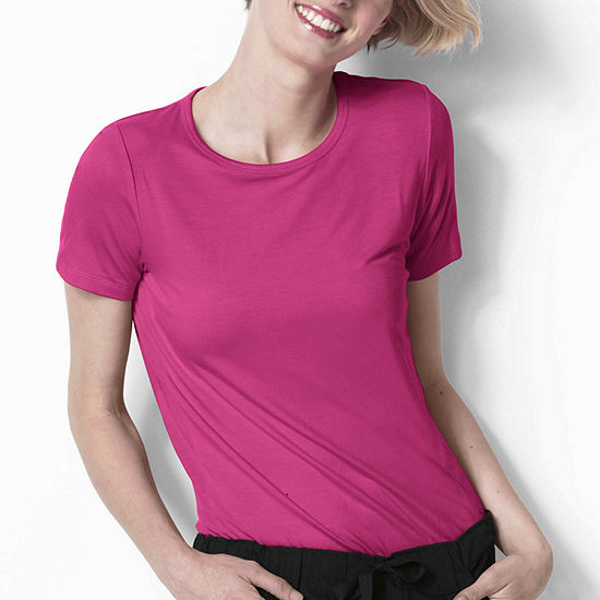 WonderWink® Layers 2209 Silky Knit Womens Short Sleeve Tee