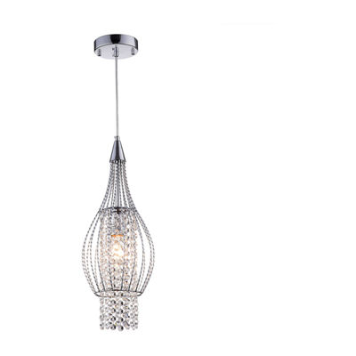 Warehouse Of Tiffany Xyza 1-light Crystal 7.5-inch Chrome-finish Chandelier