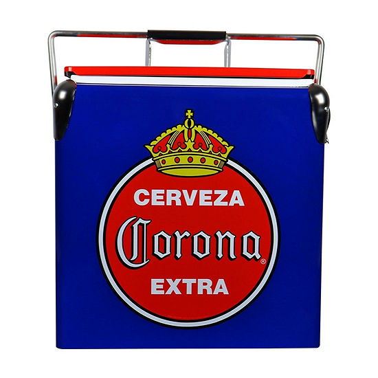 Koolatron Corona® Retro Ice Chest Cooler with Bottle Opener 13L