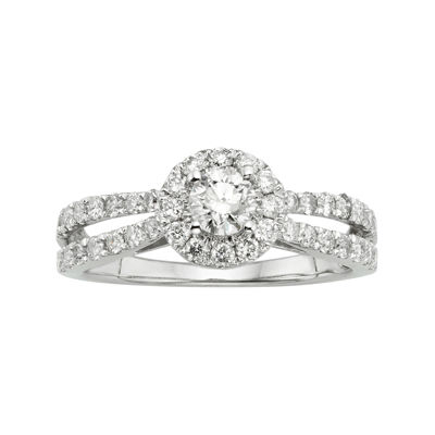 1 CT. T.W. Certified Diamond 14K White Gold Bridal Ring