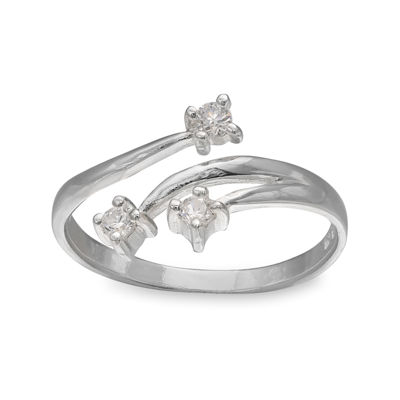 Triple Cubic Zirconia Sterling Silver Ring