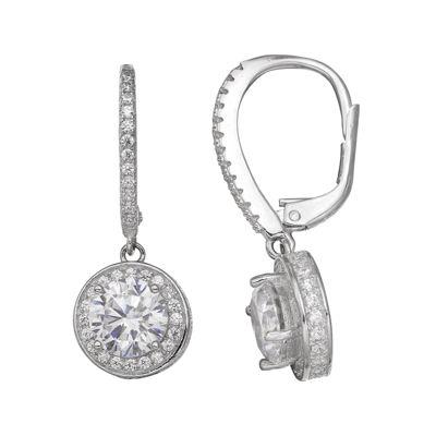 Silver Enchantment™ Cubic Zirconia Sterling Silver Drop Earrings