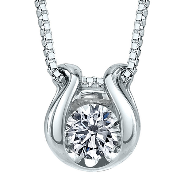 Sirena 112 ct tw diamond solitaire 14k white gold pendant sirena 112 ct tw diamond solitaire 14k white gold pendant necklace aloadofball Choice Image