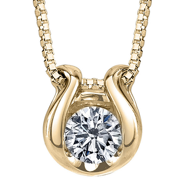 Sirena® 1/12 CT. Diamond Solitaire 14K Yellow Gold Pendant Necklace