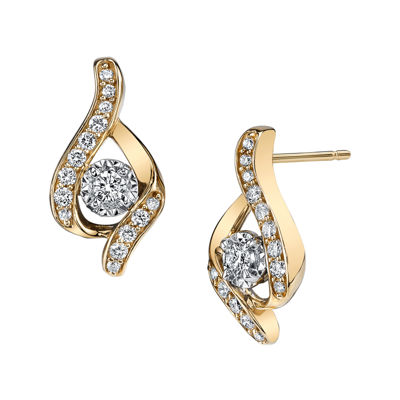 Sirena® 1/3 CT. T.W. Diamond 14K Yellow Gold Earrings