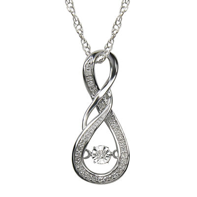 Love in Motion™ 1/10 CT. T.W. Diamond Sterling Silver Pendant Necklace