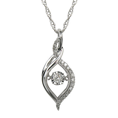 Love in Motion™ 1/5 CT. T.W. Diamond 10K White Gold Pendant Necklace