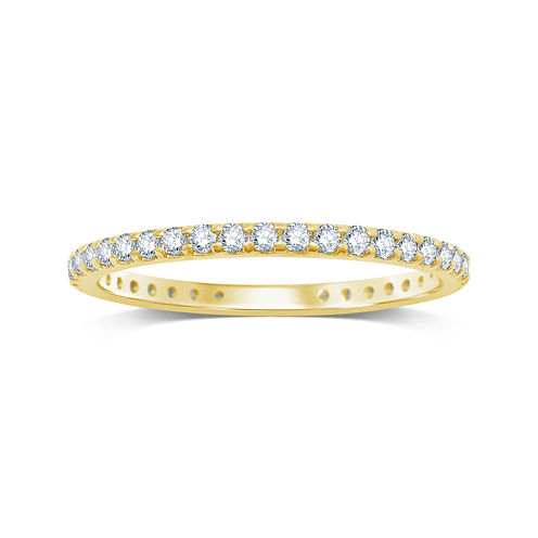 1/2 CT. T.W. Diamond 14K Yellow Gold Eternity Band