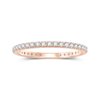 1/2 CT. T.W. Diamond 14K Rose Gold Eternity Band