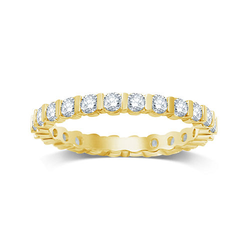 1 CT. T.W. Diamond 14K Yellow Gold Eternity Band