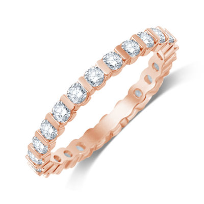 1 CT. T.W. Diamond 14K Rose Gold Eternity Band