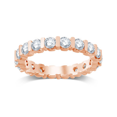 2 CT. T.W. Diamond 14K Rose Gold Eternity Band