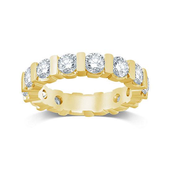 3 Ct Tw Diamond 14k Yellow Gold Eternity Band