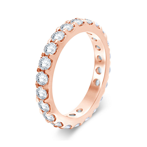 3 CT. T.W. Diamond 14K Rose Gold Eternity Band