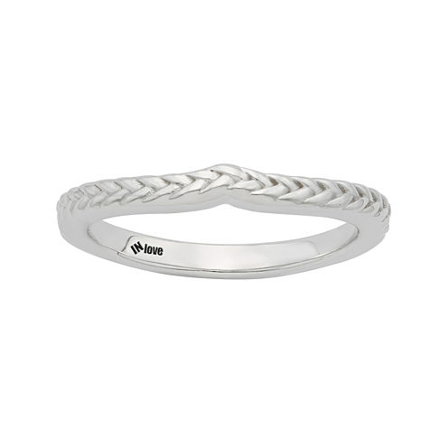 IN Love 14K White Gold Braid Wedding Band