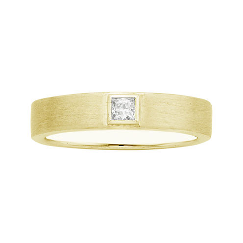 IN Love 1/10 CT. T.W. Diamond 14K Yellow Gold Princess-Cut Wedding Band