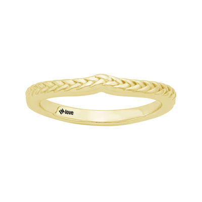 IN Love 14K Yellow Gold Braid Wedding Band