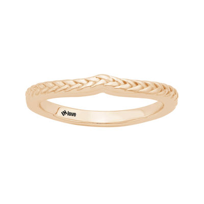 IN Love 14K Rose Gold Braid Wedding Band