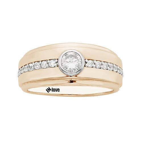 IN Love 1/2 CT. T.W. Diamond 14K Rose Gold Wedding Band