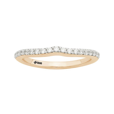 IN Love 1/4 CT. T.W. Diamond 14K Rose Gold Wedding Band