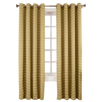 Sun Zero™ Cadiz Chevron Room-Darkening Grommet-Top Curtain Panel