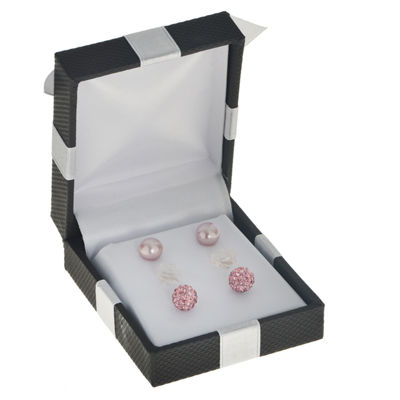3-pc. Pink Cultured Freshwater Pearl Sterling Silver Earring Set