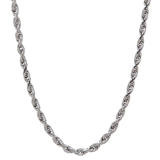 14K Gold 24 Inch Solid Rope Chain Necklace