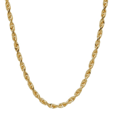 10K Gold 14K Gold 18 Inch Solid Rope Chain Necklace