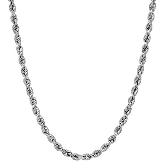 Made in Italy 14K Gold 20 Inch Hollow Rope Chain Necklace