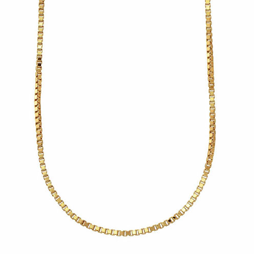 "10K Yellow Gold 063 20"" Box Chain Necklace"
