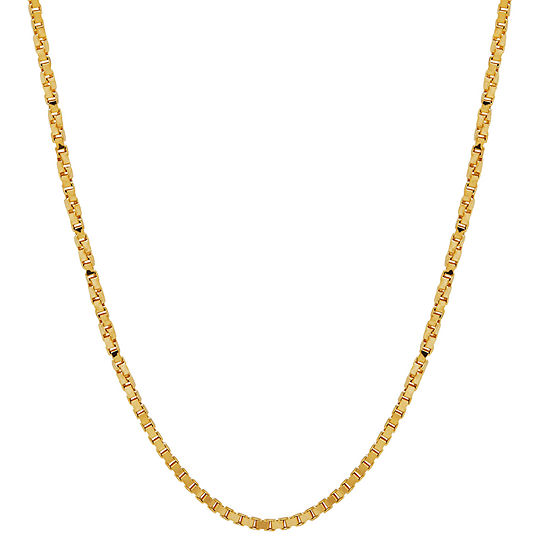 14k Yellow Gold 115mm 20 Twisted Box Chain Necklace