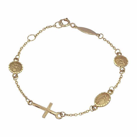"""14K Gold 5 1/2"""" Children Charm Bracelet"""