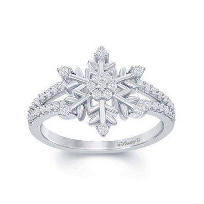 Fine Jewelry 1/4 CT. T.W. Diamond Sterling Silver Ring NdVKm