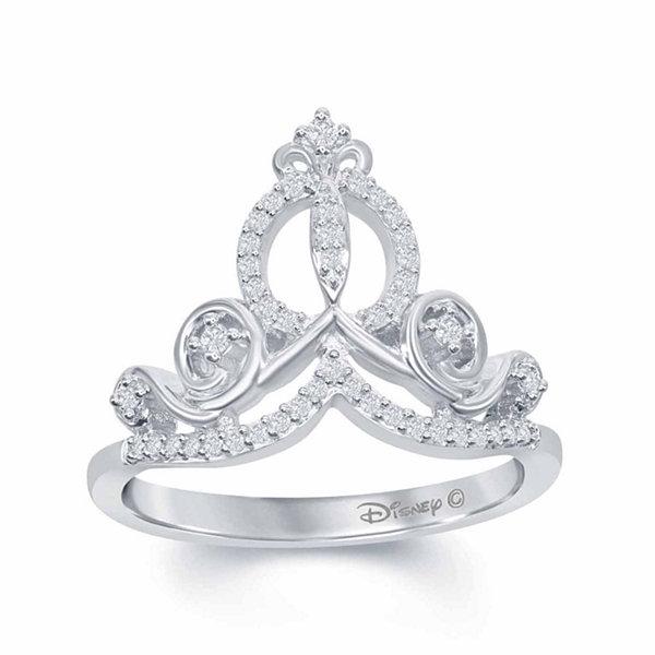 Enchanted disney fine jewelry 1 6 c t t w diamond for Disney fine jewelry rings