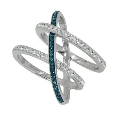 Womens Lab Created Blue Crystal Cocktail Ring