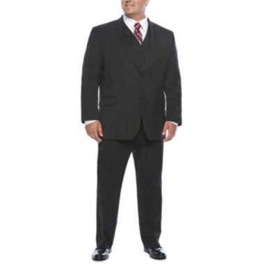 jcpenney.com | Stafford Travel Black Stretch Suit Separates-Portly Fit