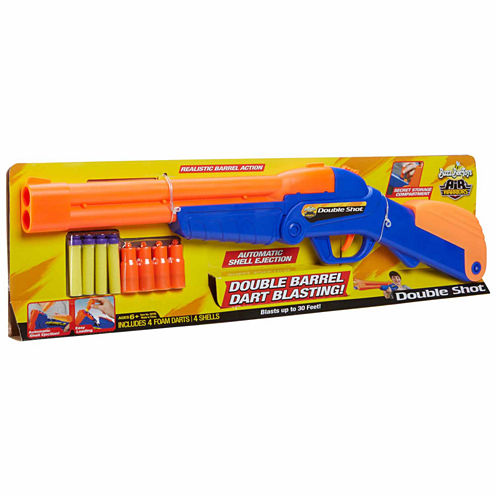 Buzz Bee Toys Air Warriors Over Under Double Shot Dart 8-pc. Toy Playset - Unisex