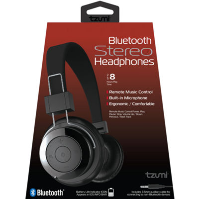Tzumi™ Bluetooth Wireless Headphones with Built-In Microphone