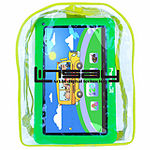 "LINSAY 10.1"" Quad-Core 2GB RAM 16GB Android 9.0 Pie Tablet with Green Kids Defender Case and Kids Back Pack"